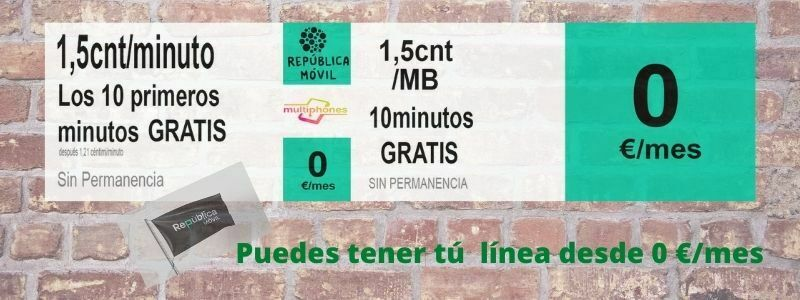 República Móvil: Tarifas desde 0 €/mes
